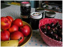 Summer Delights (prima seadiva) Tags: fruit jam summer cherries nectarine homemade