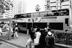 DSC08452 (rosslkung) Tags: hong kong hk monochrome blackandwhite bw bus public transport street travel taipo