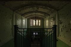 ABANDONED SCHOOL (danieljakob22) Tags: verfall trespassing urbex verlasseneschule verlassen abandoned bando nikon decay paintpeel green staircase schule school abandonedschool