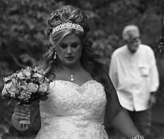 Lovely Bride, Cantigny Park. (EOS) (Mega-Magpie) Tags: canon eos 60d beautiful lovely bride woman lady female cantigny park wheaton il illinois dupage usa america bw black white mono monochrome guy dude man fella people person attractive beauteous fetching gorgeous pretty ravishing