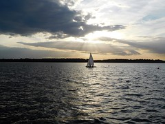 Cospudener See (kenjet) Tags: germany lake mine castmine water cospudener see cospudenersee lakecospuden saxony sail sailboat sailing evening cloud clouds weather pm