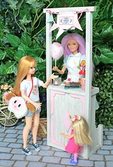 Saturday afternoon with candies in the park! 🍬🍫🍦🍭🍡Wishes of a great weekend for all of you. 🌺🌳 (♥ Little Enchanted World ♥) Tags: saturday weekend dolls barbie kelly shelly park playing sweets candies sisters cottoncandy popcorn cakes cookies cute lovely kawaii handmade little enchanted world ticketline bike