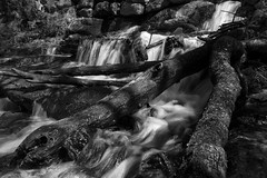 Wetworks - Abandoned Ruins (SNAPShots by Patrick J. Whitfield) Tags: rocks water waterfall nature wet reflections texture pattern lines dof detail bw monochrome noire noiretblanc blackwhite outside life