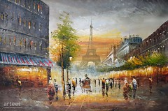 Evening in Paris, Art Painting / Oil Painting For Sale - Arteet™ (arteetgallery) Tags: arteet oil paintings canvas art artwork fine arts architecture city building travel europe town street tourism old cityscape landmark ancient sky urban buildings house history landscape roof historical tower exterior culture houses european tourist aerial structure historic panorama famous summer residential france skyline vacation downtown avenue bridge sunny place alley cities impressionism orange grey paint