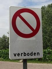 """""""Verboden..."""" (harry_nl) Tags: netherlands nederland 2018 everdingen fort bord verboden sign"""
