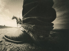 Let's Ride ! (micalngelo) Tags: analog filmphoto rider horse horserider alternativeprocess alternativephotography lithprocess lithprint moerschlith montana lomography realitysosubtlepinholecamera pinhole trixfilm toycamera