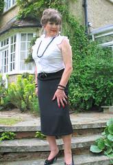 Marysteps-003 (fionaxxcd) Tags: cd tg ts ladyboy drag femmeboi mtf m2f transvestite tranny trannie crossdresser crossdressing xdresser xdressing longskirt bust breact nipples stilettos updo necklace