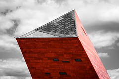 dawid zawila-1300 (David Zavila) Tags: wall brick red stone architecture buildings roof windows window sky city gdansk poland blocks minimalism glass