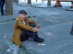 Smile (mirsavio) Tags: china beijing man shoos smile summerpalace fujifilmxt20