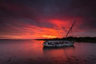 Sunset at Tipner, Portsmouth - Hampshire