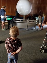 """What passes for """"outer space"""" (quinn.anya) Tags: paul toddler scienceonasphere lawrencehallofscience"""