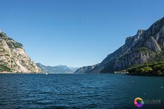 Lago di Como - Lecco LC (Antonio Alessi) Tags: lago lake como lecco lc barca cielo sky cloudy nuvolo panorama verde montagna green luce light acqua water roccia infinito