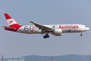OE-LPF Austrian Airlines Boeing 777-2Q8(ER) 60th birthday livery (FRA - EDDF - Frankfurt)