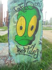 1551 (en-ri) Tags: gelo crù crew reptiles testina verde giallo nero parco dora torino wall muro graffiti writing