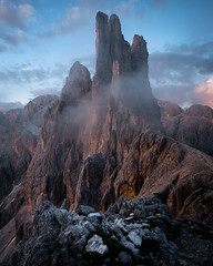 Vajolet Towers (Greg Whitton Photography) Tags: alps austria dolomites italy landscape mountains sony summer switzerland a7rii vajolet towers re alberto rifugio sunset epic torre cloud