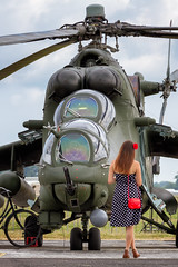 The Beauty and The Beast (FrogFootTV) Tags: pruszczgdanski lotnictwo samolot samoloty airforce land forces airbase polish polishairforce women lady woman girl polishgirl thebeautyandthebeast mi24hind mi24 hind helicopter heli helis helikopter śmigłowiec 49bazalotnicza pruszczgdański aviation aircraft aviationphotography planespotting aircraftspotting heliporn avgeek aviationlovers polisharmy polishlandforces