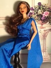 Natalia Fatale Reflects... (The Real Blythequake) Tags: fashiondolls jasonwudolls backdropfromfengdanhua1977 barbiegown nataliafataledoll