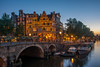 Bar by the Bridge (street level) Tags: papeneiland bar amsterdam architecture travelphotography netherlands canal boats bridge dusk holland europe