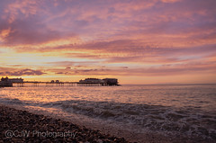 Cromer - 2017 (ca11umwe11s) Tags: pink yellow sea sunset sky cromer pier beach sun setting