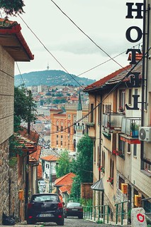 Pogled prema starom dijelu grada Sarajeva