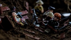 Knee deep (RagingPhotography) Tags: lego world war one 1 wars battle conflict killed action wounded wound injure injured injury bloody blood casualty trench trenches outside outdoor outdoors soldiers soldier troops troop trooper troopers knee deep mud muddy allies alliance ragingphotography