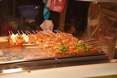 Street food (earthdog) Tags: 2018 needstags needstitle nikon nikond5600 d5600 18300mmf3563 travel businesstravel taipei taiwan nightmarket shilinnightmarket food edible cart foodcart work