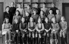 Class photo (theirhistory) Tags: children kids boys pupils students girls school class form group teacher jacket shorts shoes wellies jumper wellingtons