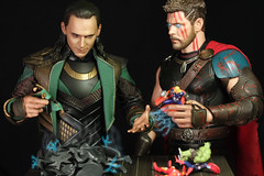 All Is Fair in Love and Play War (Doctor Beef) Tags: loki lokilaufeyson thor thorodinson tomhiddleston chrishemsworth hottoys toy actionfigure 16
