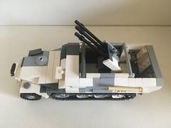 SdKfz 251/21 Detail (Wehrabricks) Tags: lego german wwii halftrack sdkfz 25121 drilling hanomag