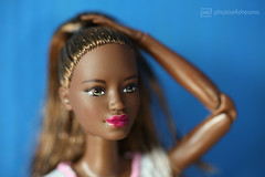 raven a little upgraded (photos4dreams) Tags: photos4dreams p4d photos4dreamz yoga barbie doll toy puppe madetomove dress mattel barbies girl play fashion fashionistas outfit kleider mode puppenstube tabletopphotography aa africanamerican darkskin