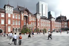 Tokyo Station (Bernard Spragg) Tags: japan railwaystation asia buildings tokyo lumix street people fz1000