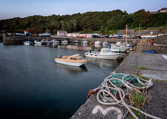tied up for the night (D Cation) Tags: scotland ayrshire dunure firthofclyde harbour fishing boats night twilight gloaming