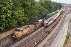 NS 295 at CP Rockdale (travisnewman100) Tags: norfolk southern train railroad freight intermodal cp rockdale ge union pacific up csx es44dc ac44ctte 295 inman terminal yard control point atlanta georgia division ns