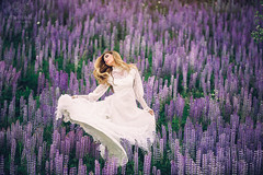 Lupine Wildflower Fashion Photography, Prince George BC (Dan Stanyer (Northern Pixel)) Tags: northernpixelphotography princegeorge britishcolumbia northernbc fashionphotography fashion fashionphotographers pg bc flowers wildflowers purple lupines purplelupines vintageweddingdress vintagedress weddingdress weddingphotographers britishcolumbiaweddingphotographers wedding