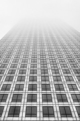 Disappearing Perspectives (adrians_art) Tags: city canarywharf docklands buildings architecture offices uk london urban captol monochrome mono blackandwhite windows lines patterns isleofdogs weather fog mist perspectives no1canadasquare