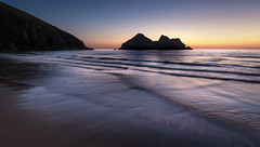 Last Light (Mick Blakey) Tags: cscapeart holywellbay mickblakey beach blue cliffs clouds coast coastal contrast cornish cornwall dreamy dusk orange sand sea seascape shadows shoreline silhouette sun sunset surreal tide twilight