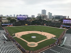 "View from the Wrigley Field Press Box • <a style=""font-size:0.8em;"" href=""http://www.flickr.com/photos/109120354@N07/42412776844/"" target=""_blank"">View on Flickr</a>"