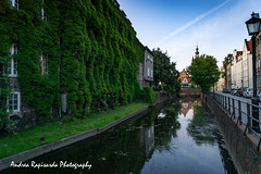 Riflessi sul canale (Andrea Rapisarda) Tags: danzica polonia riflessi reflections water acqua gdansk poland green sky sony a6000 16mm ©allrightsreserved city summer solstice evening town perspective prospettiba wideangle
