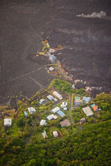 Kapoho Bay Hawaii Lava Destroyed Homes (tobyharriman) Tags: 5dsr kapoho leilaniestates aerial bay bigisland canon disaster farms fissure hawaii helicopter islands kilaueafissure8 landscape lava natgeo nationalgeographic nature outdoor pele photography rifts river tobyharriman travel volcano