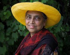 Mary (jeffcbowen) Tags: mary stranger thehumanfamily hat india canada ontario