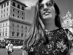 She may be the face I can't forget..... (Baz 120) Tags: candid candidstreet candidportrait city candidface candidphotography contrast street streetphoto streetphotography streetcandid streetportrait sony a7 rome roma europe women monochrome monotone mono noiretblanc bw blackandwhite urban life primelens portrait people pentax20mm28 italy italia girl grittystreetphotography faces decisivemoment strangers