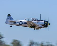 """Greg Anders piloting the Heritage Flight Museum 1942 North American AT-6D Texan """"Hog Wild Gunner"""" N190FS (Hawg Wild Photography) Tags: greg anders 1942 north american at6d texan """"hog wild gunner"""" n190fs warbird warbirds heri"""