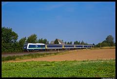 Mitteldeutsche Regiobahn 223 152, Rochlitz 25-08-2017 (Henk Zwoferink) Tags: rochlitz sachsen duitsland de eurorunner siemens er20 mitteldeutsche regiobahn integro press henk zwoferink 223 152 chemnitz mrb