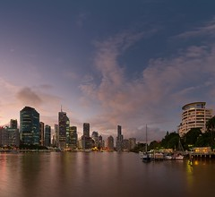 Quicky & dirty Pano (noompty) Tags: brisbane city cityscape brisbaneriver sunset pano panorama on1pics photoraw2018 pentax k1 hddfa1530mmf28edsdmwr