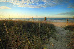 An Early Morning On The Beach (dorameulman) Tags: dorameulman beach southcarolina northmyrtlebeach sunrise sunshine sanddunes ocean waves sky landscapephotography landscape sand solitude bliss peace haiku canon7dmark11 canon summer wideangle