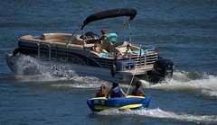 Fun Ride (Scott 97006) Tags: recreation fun river water boat raft ride tow play
