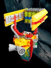 Saibashi Cargo Handler (David Roberts 01341) Tags: spaceship spacecraft lego technic system space scifi minfigure cargo tug chopsticks