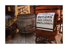 Mitchells and Butlers (Audrey A Jackson) Tags: canon60d brewery burtonontrent staffordshire advertising history barrel cart wheel