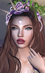 #346 - Oceans Daughter (Violet Batriani   Blogger   Model) Tags: secondlife catwa maitreya blog bento mermaid ocean crown water jewels seashells