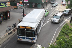 IMG_8609 (GojiMet86) Tags: mta nyc new york city bus buses 2012 c40lf cng 645 subway shuttle queens plaza south crescent street
